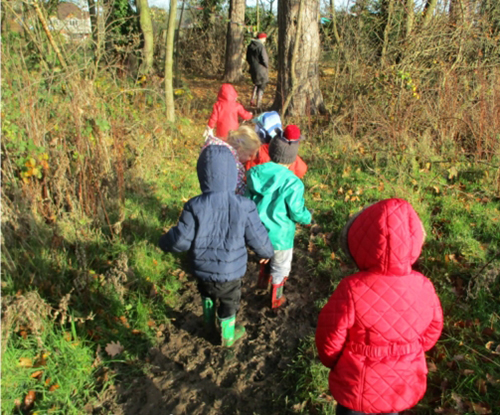Back to the woods for Forest School!